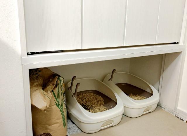 猫のトイレ置き場